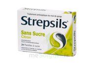 Strepsils Citron Sans Sucre, Pastille édulcorée à L'isomalt, Au Maltitol Et à La Saccharine Sodique à TOURS