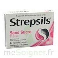 Strepsils Fraise Sans Sucre, Pastille édulcorée à L'isomalt, Au Maltitol Et à La Saccharine Sodique à TOURS