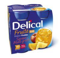 Delical Boisson Fruitee Nutriment Multi Fruits 4bouteilles/200ml à TOURS