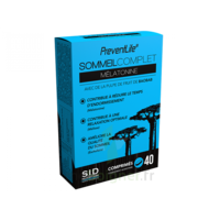 Sid Nutrition Preventlife Sommeil Complet Mélatonine Comprimés B/40 à TOURS